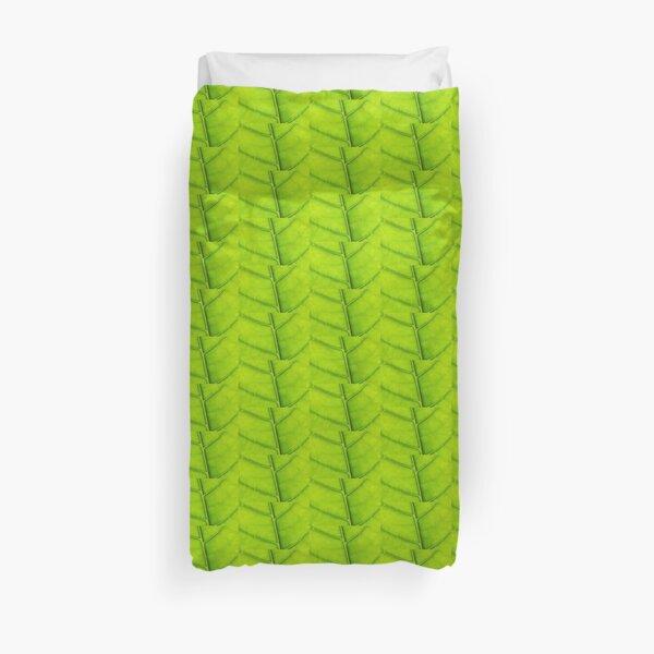 Eco green leaf Duvet Cover