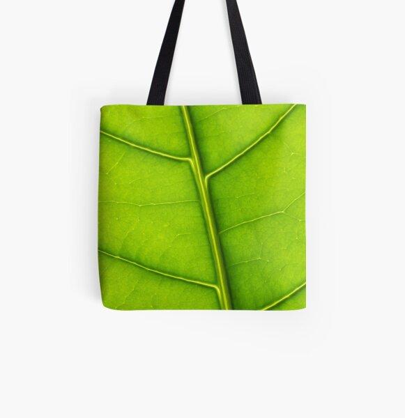 Eco green leaf All Over Print Tote Bag