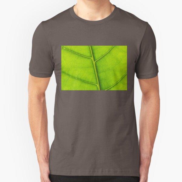 Eco green leaf Slim Fit T-Shirt