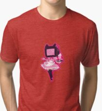 TV head Maid, pastel color scheme Tri-blend T-Shirt