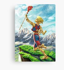 Self-Winding Jester Canvas Print