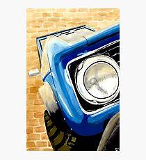 Blue Bronco Photographic Print