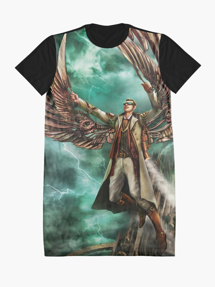 Alternate view of On Copper Wings Graphic T-Shirt Dress