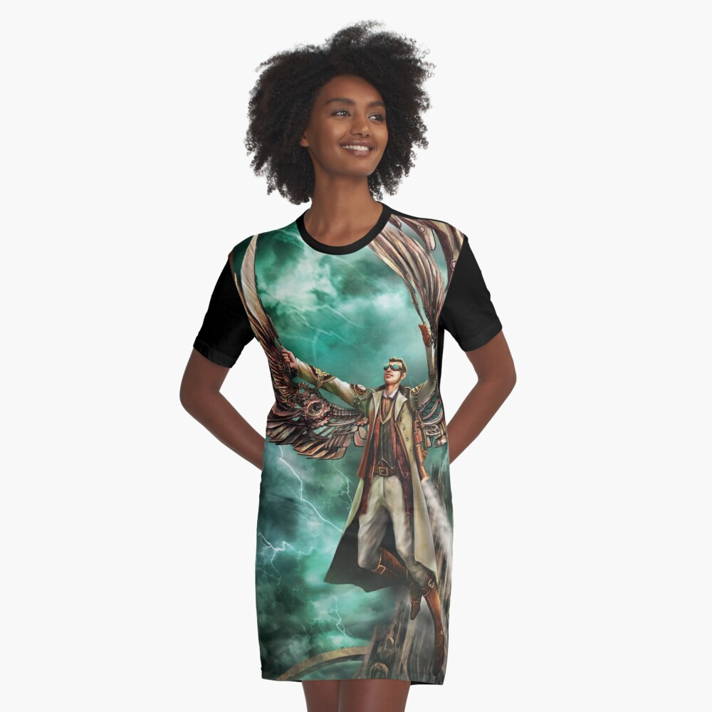 On Copper Wings Graphic T-Shirt Dress