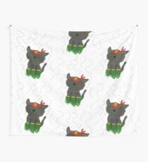 Dancing kitty Wall Tapestry