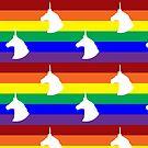 Unicorn Rainbow Polka-dots! by Becca C. Smith