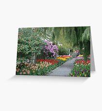Beautiful Spring Garden Greeting Card