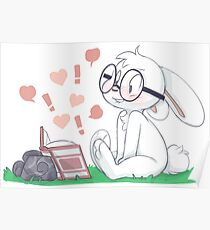 Dirty Bunny - Hearts and Exclamation Marks Poster