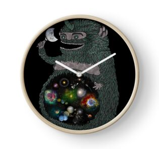 Space junkie stickers by nichole lillian ryan redbubble clock publicscrutiny