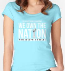 Eagles Superbowl Champions Shirt 2018: We Own The Nation Women's Fitted Scoop T-Shirt