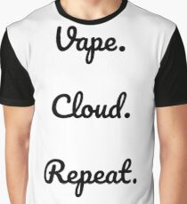 Vape. Cloud. Repeat Graphic T-Shirt