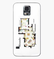 "Floorplan of Miranda's apartment from BBC's ""MIRANDA"" sitcom Case/Skin for Samsung Galaxy"