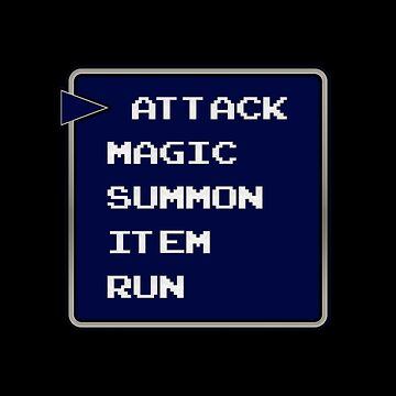 Attack Magic Summon Item Run Funny Final Fantasy Gift for Gamers by justcoolmerch