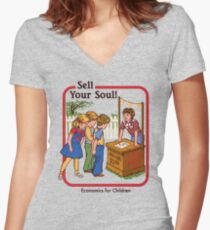 Sell your Soul Women's Fitted V-Neck T-Shirt