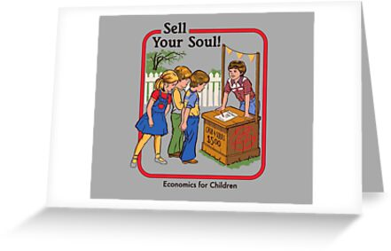 Sell your soul greeting cards by steven rhodes redbubble sell your soul by steven rhodes m4hsunfo