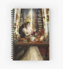 Steampunk Librarian Spiral Notebook