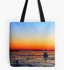 Boat at Sunrise Tote Bag
