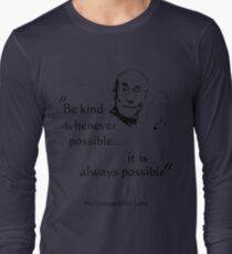 Be Kind: Dalai Lama (on light) Long Sleeve T-Shirt
