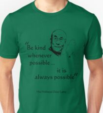 Be Kind: Dalai Lama (on light) Slim Fit T-Shirt