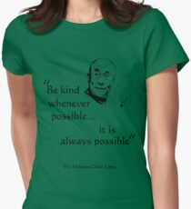 Be Kind: Dalai Lama (on light) Women's Fitted T-Shirt