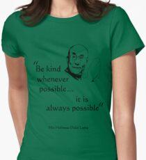 Be Kind: Dalai Lama (on light) Women's Fitted T-Shirt