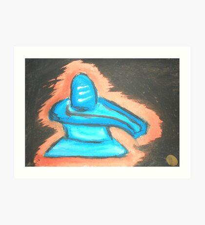 Shiva Ling!! - The fire form of Shiva. Art Print