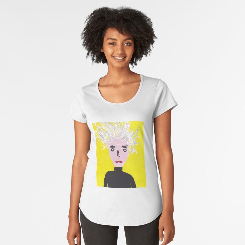 Devant T-shirt premium femme ''Portrait inspiré d'Andy Warhol - Martin Boisvert - Faces à flaques'