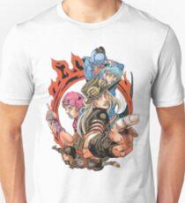 Steel Ball Run Characters Slim Fit T-Shirt