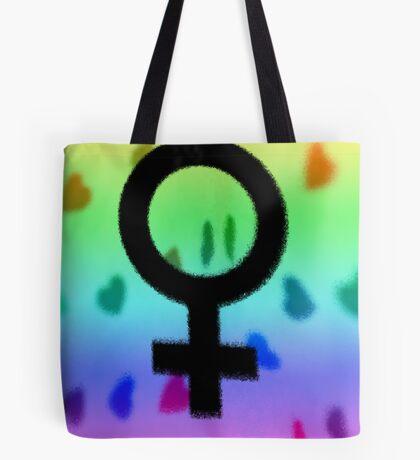 Venus Rainbow Hearts Tote Bag