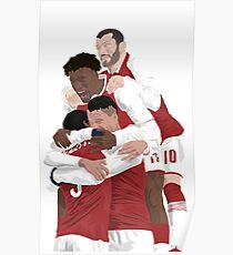 Arsenal Players Celebrating Poster