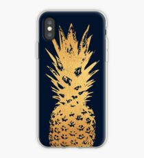 Gold und Samt Ananas iPhone-Hülle & Cover