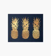Gold and Velvet Pineapple Art Board