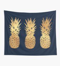Gold und Samt Ananas Wandbehang