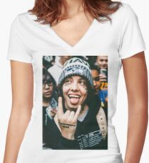 Lil Xan Women's Fitted V-Neck T-Shirt