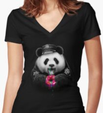 DONUT COP Women's Fitted V-Neck T-Shirt