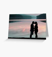 LOVER'S SUNSET Greeting Card