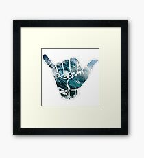Hang loose  Framed Print