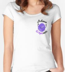 Achieve Grapeness - Punny Garden Women's Fitted Scoop T-Shirt