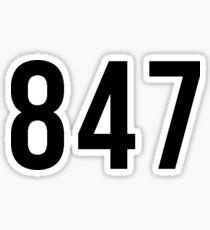 847 Area Code Sticker