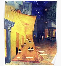 "My Version /  Homage  to Vincent   ""  The Cafe' Terrace  at Night  ""     My Paintings                        Poster"