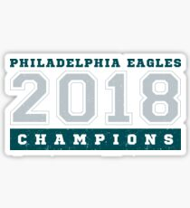 Philadelphia Champions Football Fly Eagles Fly Graphic Tee Sticker
