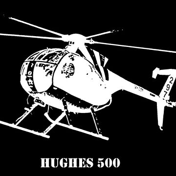 Hughes 500 in White by PrecisionHeli