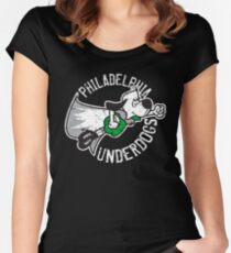 Philadelphia Underdogs Eagles Superbowl Champions Women's Fitted Scoop T-Shirt
