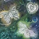 Solar Print and Tangled Butterflies  by Heatherian