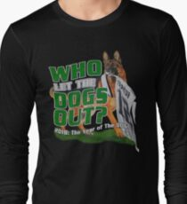 Eagles Who Let The Dogs Out Superbowl Champions Long Sleeve T-Shirt
