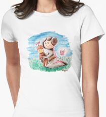 Princess Leia and Wookiee Doll Chewbacca STAR WARS fan art Womens Fitted T-Shirt