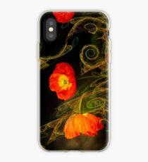 Dekorative Mohnblume iPhone-Hülle & Cover