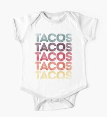 Retro Tacos T-shirt Vintage Taco Tuesday T shirt Mexican Tee Short Sleeve Baby One-Piece