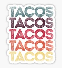 Retro Tacos T-shirt Vintage Taco Tuesday T shirt Mexican Tee Sticker