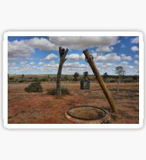 Old Well - Milparinka Historic Precinct NSW Australia Sticker